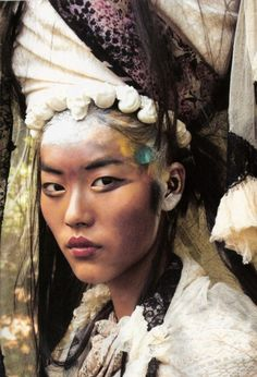 Nomadas | model Liu Wen | Thomas Schenk photography Spanish Vogue January 2011
