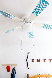 diy ideas, chevron patterns, ceiling fans, kid rooms, nurseri