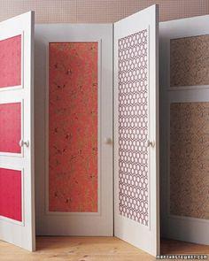 Wallpaper doors