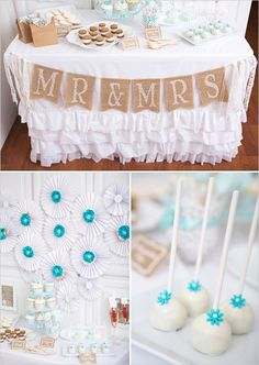 Burlap dessert table banner