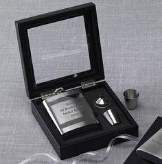 Glass Box Flask Set #thingsengravedgifts