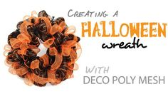 Party Ideas by Mardi Gras Outlet: Halloween Wreath with Deco Mesh: A Video Tutorial