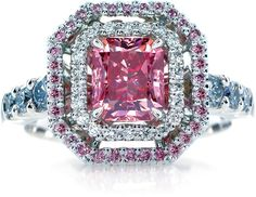#Pink #diamond #engagement #ring