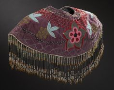Nehiwyan (Cree, Alberta or Manitoba), Woman's Cape, beads/velvet/cotton, c. 1940.