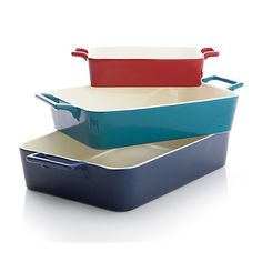 colorful baking dishes
