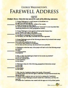 washington's farewell essay