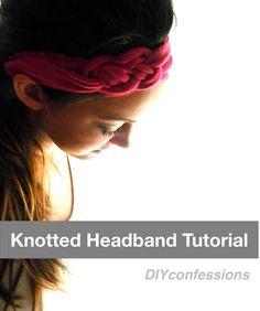 Knotted Jersey Headband DIY