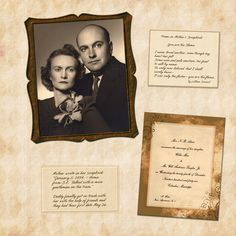 Family Heritage Scrapbook - Submit an Entry: Digital Scrapbook Layouts