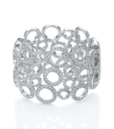 Summer silver!! Kenneth Jay Lane Circle Crystal Hinge Cuff Bracelet, silver cuff, crystal cuff, crystal bracelet, summer jewelry, summer bracelets