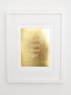 Gold Foil Prints for the Nursery « buymodernbaby.com