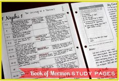 Book of Mormon study pages.  This Mormon pin is loved at www.MormonLink.com