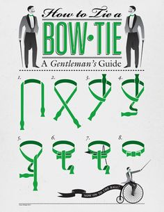 """How to Tie a Bow-Tie: A Gentleman's Guide -- """"'Cause bow-ties are COOL!""""  -Doctor Who  -- Doctor Who"""