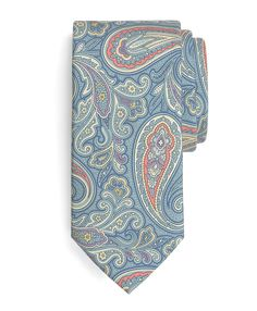 Summer Madder Large Paisley Print Tie   Brooks Brothers - on sale now.