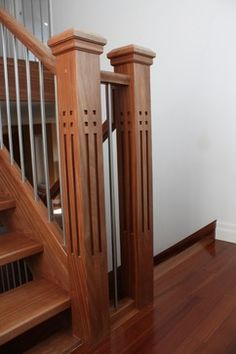 Mission Style Newel Posts Design, Pictures, Remodel, Decor and Ideas - page 8