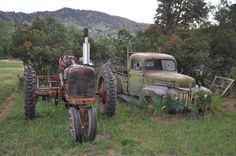 truck & tractor - always old ones off to the side by the big shed
