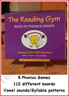 Book of Phonics Games from The Reading Gym on TeachersNotebook.com -  - Games for practice of phonics skills- short vowels, long vowel teams, silent-e, r-controlled, diphthongs, consonant blends, suffixes -ed, -ing, -es, -er, -est, hard/soft c,g, syllable patterns,