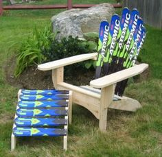ski bedding | Front Porch  Things for Your Cabin  Ski Furniture - Cabin Decor