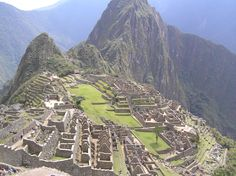 Machu Picchu- near the top of my list because it may not be here much longer :(