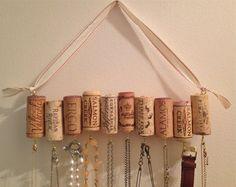 Wine Cork Necklace Rack by WhatShipsAreBuiltFor on Etsy