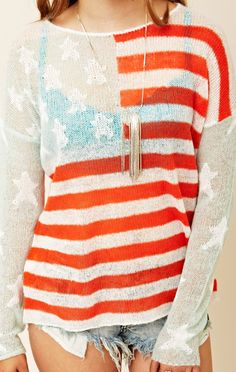 WILDFOX Born On The Fourth Billy Sweater