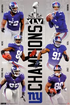 2012 Super Bowl - Champs- New York Giants