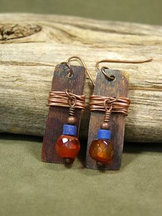 Copper Earrings  Southwest Earrings  Bohemian by StoneWearDesigns