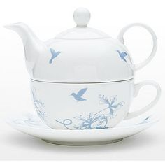 hummingbird teapot & cup set