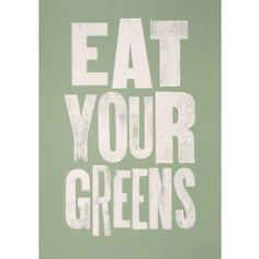 eat your greens- perfect for spring or fall