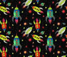 Night Rocket fabric