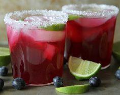 Blueberry Lime Margaritas