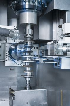 Two integral dressing spindles with solid-borne sound sensors and maximum speeds of 15,000 rpm allow for simultaneous dressing of the grinding wheels, thus reducing idle times quite considerably.  Categories:  CBN Grinding, Crankshafts, EMAG, Grinding, Grinding Machines, Maschines, Processing Technologies