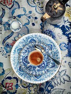 table settings, tea time, tea sets, pattern, teas, white, coffee cups, coffee time, blues