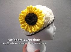 Crocheted Sunflower - Meladora's Creations Free Crochet Patterns & Tutorials