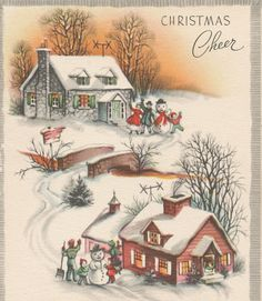 Vintage family Christmas card