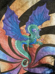 michell dragon, dragon quilt, art quilter