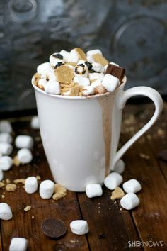 Boozy s'mores hot ch