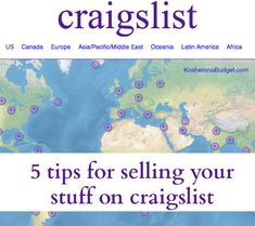 5 Tips for Selling Your Stuff on Craigslist