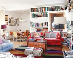 Living room, colorful