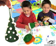 Arbol de hilo Decoraciones de Navidad