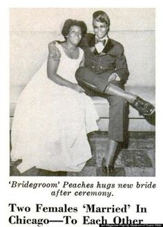 In 1970, JET Magazine featured the wedding of Edna Knowles and Peaches Stevens.