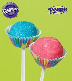 PEEPS Cake Pop Recipe from @Wilton Cake Decorating available on Joann.com #livelovebake