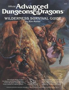 Wilderness Survival Guide (1e) | Book cover and interior art for Advanced Dungeons and Dragons 1.0 - Advanced Dungeons & Dragons, D&D, DND, AD&D, ADND, 1st Edition, 1st Ed., 1.0, 1E, OSRIC, OSR, fantasy, Roleplaying Game, Role Playing Game, RPG, Wizards of the Coast, WotC, TSR Inc. | Create your own roleplaying game books w/ RPG Bard: www.rpgbard.com