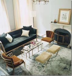 Classic retro perfection!  (Katie Lee's Living Room designed by Nate Berkus)