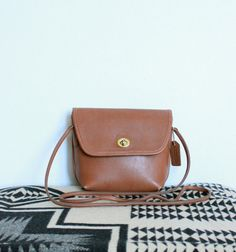 Coach Quincy Cross Body Flap Bag in British by magnoliavintageco, $60.00
