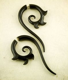 Salander Spirals Long Earrings by TribalStyle on Etsy