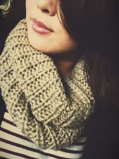 Knitted infinity scarves <3