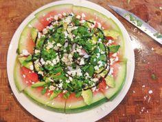 Easy Healthy Watermelon Pizza SALAD