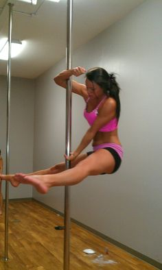 Did you know that pole fitness is the latest new fitness workout? It's a fun way to workout and trains the entire body. Learn how to lose weight & feel sexy at the same time! #fitness
