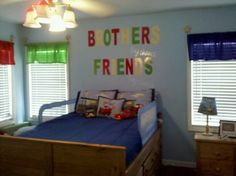 """My Boys room = ) """"Brothers by chance, Friends by choice"""""""