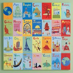 Alphabet of places around the world - love this!